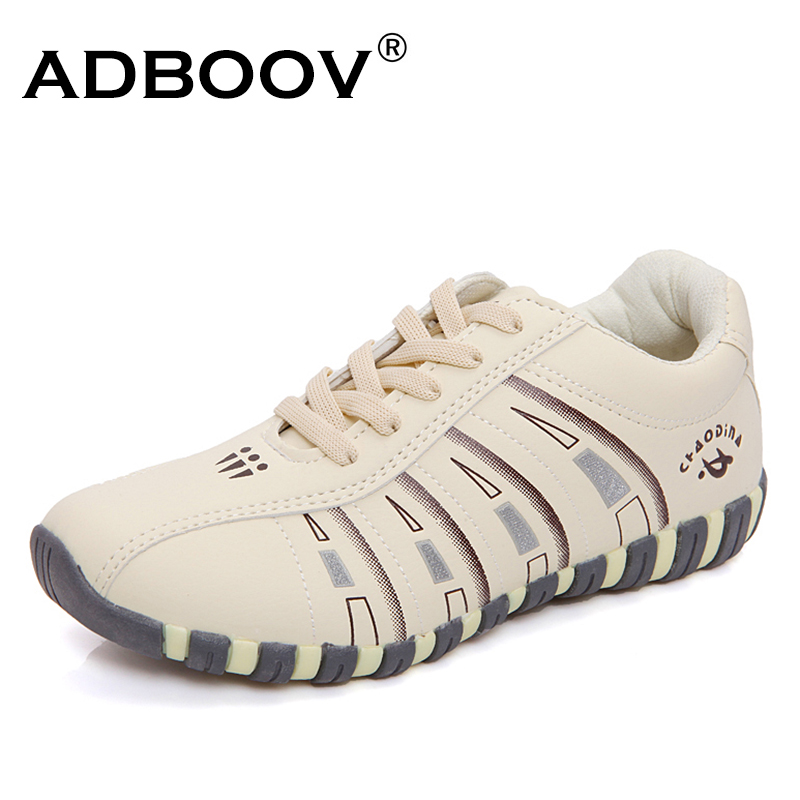 ADBOOV 2018 New Fashion Women Sneakers PU Leather Casual Shoes Woman Lace Up Flats Shoes Ladies Walking Shoes Chaussures Femme xaxbxc 2018 new summer fashion black lace up derby shoes flats shoes women leisure shoes woman ladies party wedding shoes