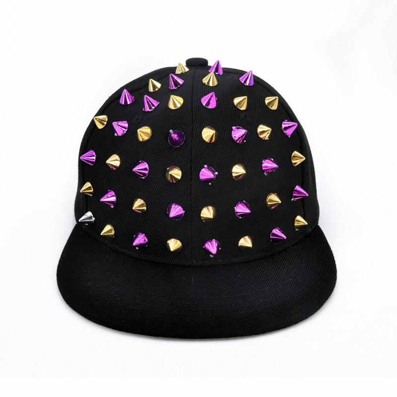 Kind Sommer Casualhats Hip Hop Caps Flache Top Snapback Hüte Für Frauen Zipper Niet Armee Hüte Gorras Reise Sonnenschutz