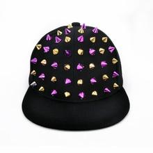 child Summer casualHats Hip Hop Caps flat top Snapback hats for Women zipper rivet Army Hats Gorras travel Sun Shading