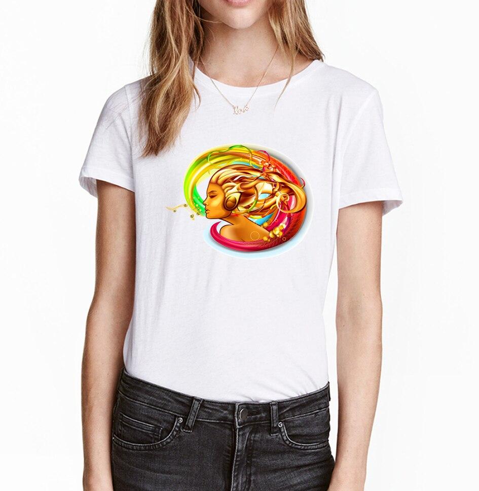 Desain t shirt elegan - Nyanyikan Lagu Wanita T Shirt 2017 Musim Panas Kreatif Desain Lucu T Shirt Wanita O