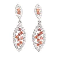 Glamorous Red Garnet 2 2mm Semi Precious Silver Cool For Womens Stud Earrings ED0233