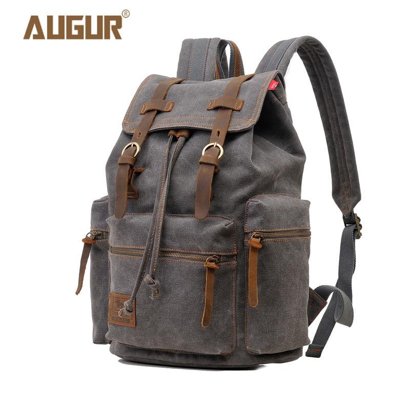 f312a2d58f4f АВГУР модный винтажный рюкзак для ноутбука женские парусиновые сумки  мужские хлопковые дорожные рюкзаки для отдыха повседневные