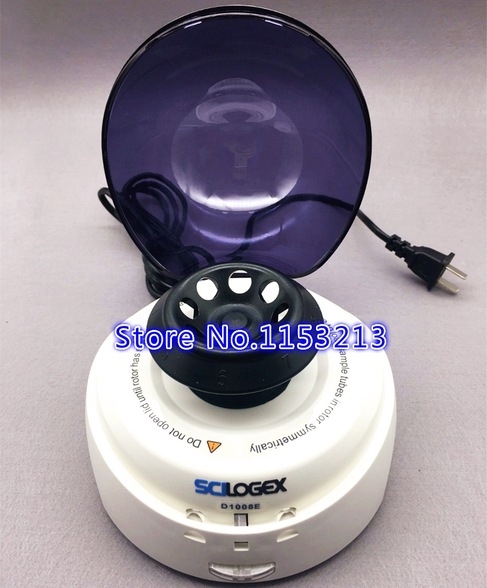 SCILOGEX D1008E Mini-Centrifuges 5000rpm Mini palm Centrifuge 0.5ml, 1.5ml, 2ml Laboratory CentrifugeSCILOGEX D1008E Mini-Centrifuges 5000rpm Mini palm Centrifuge 0.5ml, 1.5ml, 2ml Laboratory Centrifuge