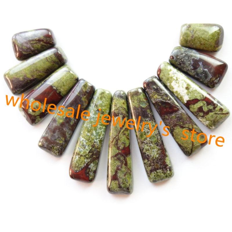 Free Shipping Interesting Wholesale 11Pcs/set Dragon Bloodstone Pendant Bead SHX129