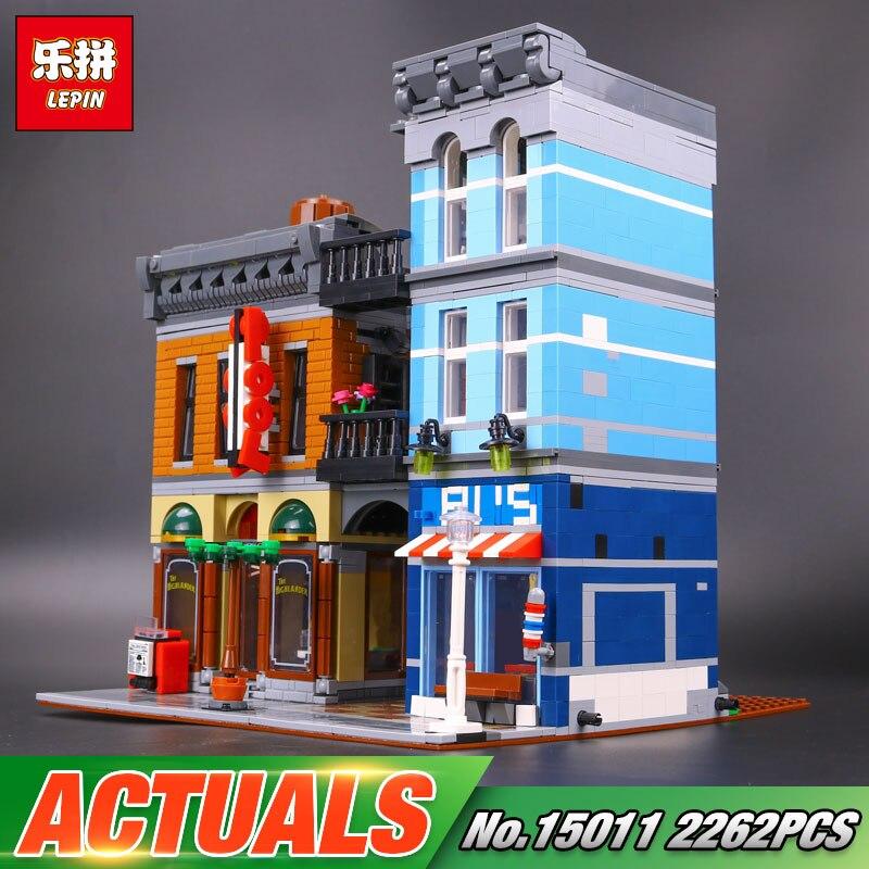 Lepin 15011 Building Series The Detective's Office Set Avengers Set Assemble Building Blocks Educational Children Toys 10197 72pcs educational building blocks set