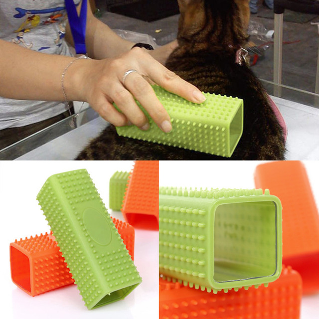 2 Colors Pet Dog Puppy Cat Bath Brush Comb Depilation Soft Silicone Sticky Hair Tool Drop Shipping