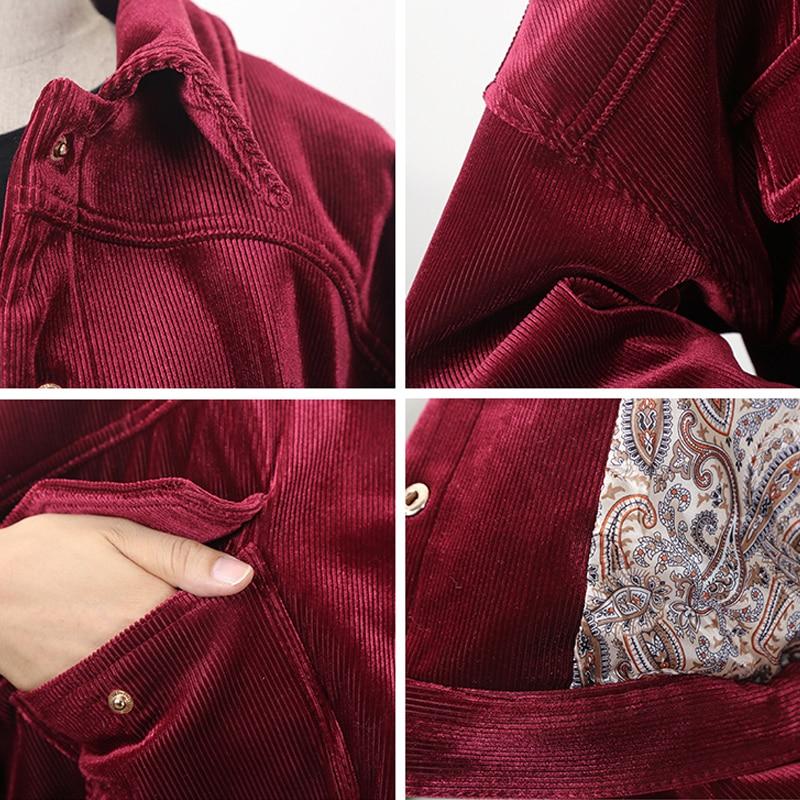 Cotone Harajuku Maniche Spessore Donne Signore Velluto Inverno A Modo 2019 Corta Delle Giacca blue Di Nuovo Lunghe Calda In Red qw7cXvZC