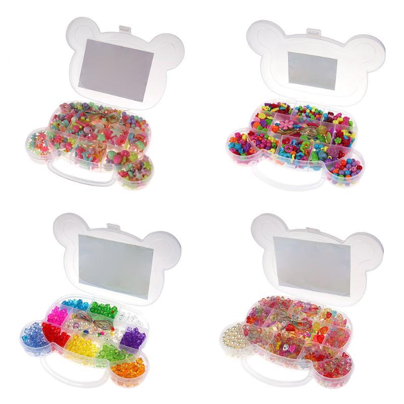 350pcs Ποικιλία Παιδικά Κορίτσια Πλαστικά DIY Χάντρες Κιτ Αξεσουάρ ... 93a0a2fdc55