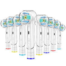 top sells 4 pcselectric toothbrush head 4 pcs protection cover case 1 pc toothbrush case for oral b kits with free shipping 8 PCS 3D PRO White Toothbrush Heads for Oral b Toothbrush Heads with Toothbrush Head Cover Fits Oral-B Electric Toothbrush
