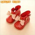Девушки Сапоги Детские Дождь Сапоги С Бантом Девушки Детей Дождь обувь Лук Водонепроницаемый Ребенок Резиновые Сапоги Желе Мягкий Младенческой Обуви BO28