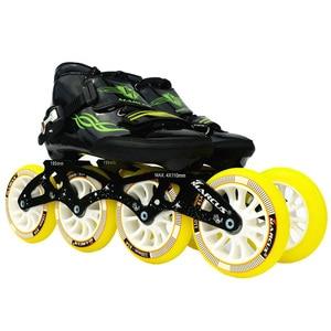 Image 2 - يستحق! ألياف الكربون الألياف الزجاجية سرعة حذاء تزلج بعجلات الأبيض للأطفال الكبار المنافسة الشارع سباق أحذية رياضية التدريب Patines