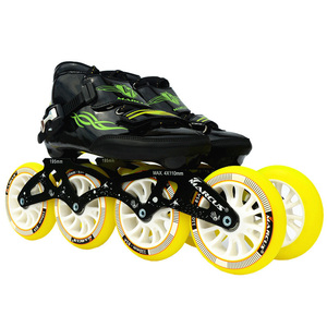 Image 2 - Worth! Carbon Fiber Fiberglass Speed Inline Skates White Kids Adult Competition Street Racing Sport Shoes Training Patines