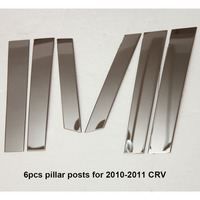 KOUVI Accessories FIT FOR HONDA CRV CR V 2010 2011 WINDOW CHROME PILLAR POSTS COVER TRIM MOLDING GARNISH ACCENT