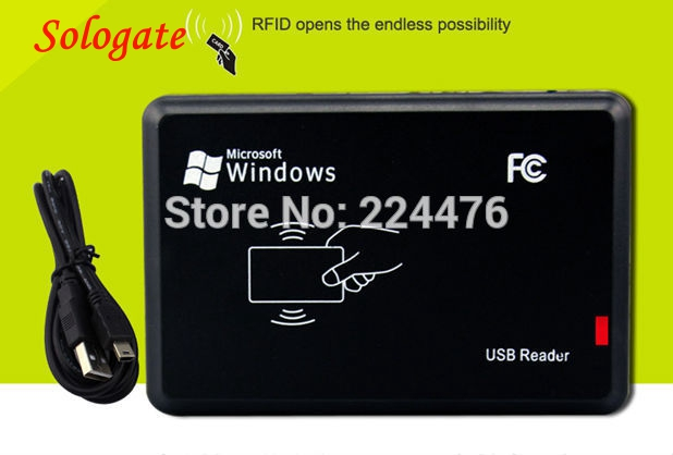 New USB RFID ID Contactless Proximity Smart Card Reader EM4001 EM4100 Windows #54615 free shipping contactless 125khz rfid id reader smart card reader usb proximity cards reader