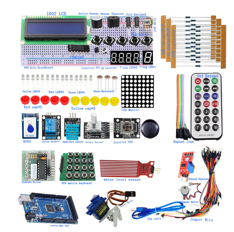 Microcontroller Beginner Kit Starter Kit DIY kit010    lcd  1602