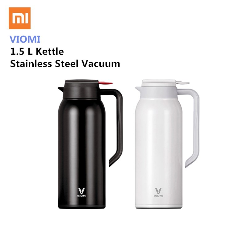 Xiaomi VIOMI Stainless Steel Bottle 1.5L Big Capacity Thermos Water Vacuum Bottle Cup Flask Pot 24h Keep Warm For Home Office 1 5l big capacity xiaomi viomi stainless steel bottle thermos water vacuum bottle cup flask pot 24h keep warm for home office