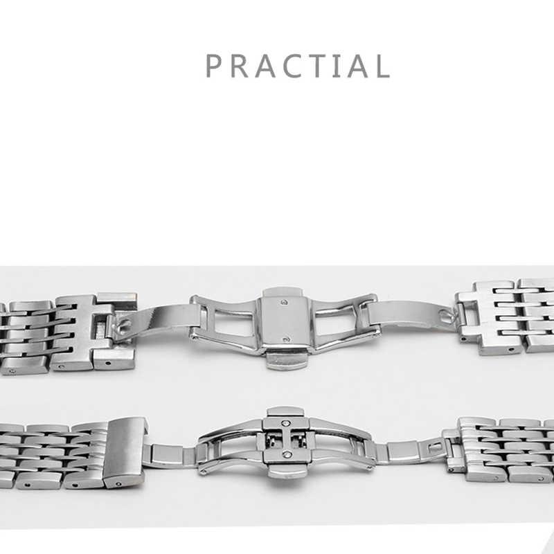 Peiyi時計バンド 20 ミリメートルステンレス鋼の交換金属のためデomegaためvilleメンズ腕時計スチールブレスレット