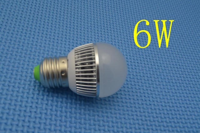 New LED bulb 6W  Dimmable Ball Bulb AC85-265V E27 Warm White / White /cool white wholesale High quality Energy Saving  wall