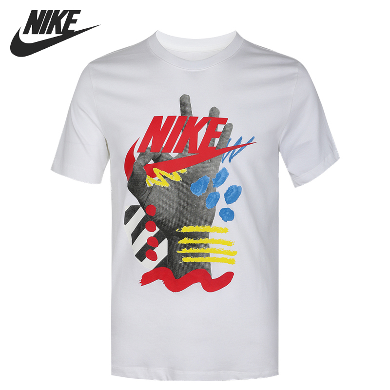 Original New Arrival  NIKE  AS M NSW SS CREW SSNL 3 Men's T-shirts short sleeve Sportswear