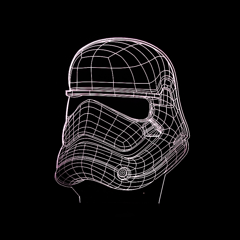 3D Star War figure Darth Vader Led Sleep Night light Boy gift cartoonTouch senser USB Table Illusion Mood Dimming Lamp 7 Color