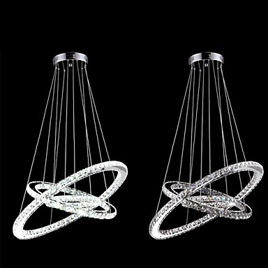 40CM Modern LED Crystal Pendant Light Lamp For Living Dinning Room, Lustre De Cristal Sala Teto E Pendentes Luz
