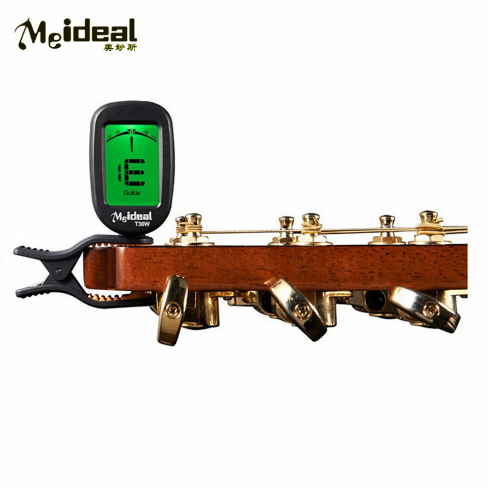 Meideal Clip-on Clip on LCD Display Guitar Tuner Backlight for Guitar Chromatic Bass Violin Banjo Chromatic Tuner T30W Hot LCD