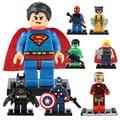 Vingadores da marvel Homem De Ferro Batman Capitão América Mini Figuras Blocos de construção Super-heróis Com Arma Brinquedo Brinquedos legoeINGlys