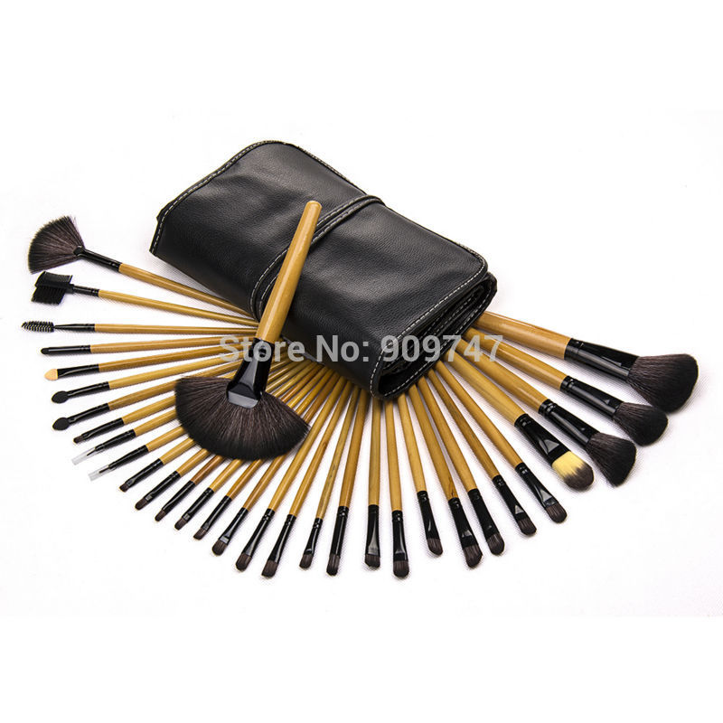 2015 Professional Cosmetic Make Up Brush Set with Case 32 pcs Makeup Brush Set tools Makeup Toiletry Kit hot sale 2016 soft beauty woolen 24 pcs cosmetic kit makeup brush set tools make up make up brush with case drop shipping 31