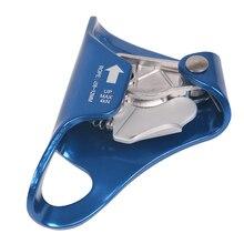 4KN açık göğüs Ascender dağcılık mağaracılık tırmanma Ascender için 8mm 12mm halat tırmanma Rappelling kurtarma dişli mavi