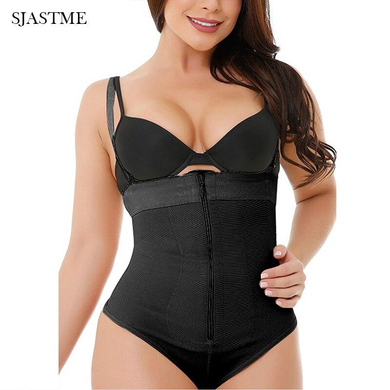 Thong Bodysuit - Women Seamless Waist Firm Control Shapewear Faja Open Bust Bodysuit & Panty Body Shaper Waist Trainer Cincher