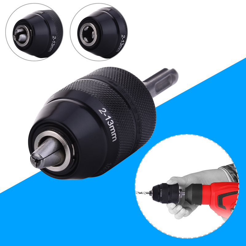 2-13mm Metal Keyless Lathe Drill Chuck Converter with SDS Adapter Accessories