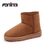 FONIRRA New Arrival Ankle Boots Women Snow Boots Winter Warming Round Toe Boots S Female Warm