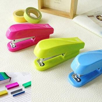 Grapadora Manual de Color sólido, Grapadora de colores de acero inoxidable 24/6,...