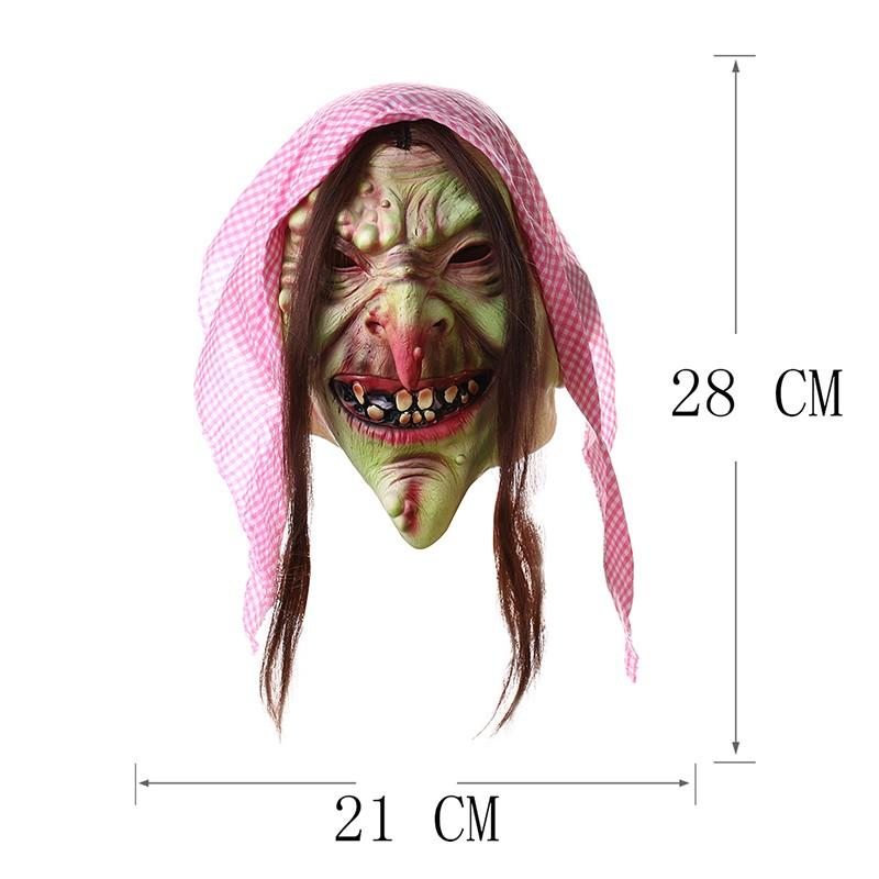 H & D Erwachsene Alte Hexe Maske Latex Gruselige Halloween Märchen ...