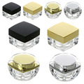 5Pcs Cosmetic Empty Square Jar Pot For Eyeshadow Makeup Cream Container Transparent Bottle Capacity 5g/10g