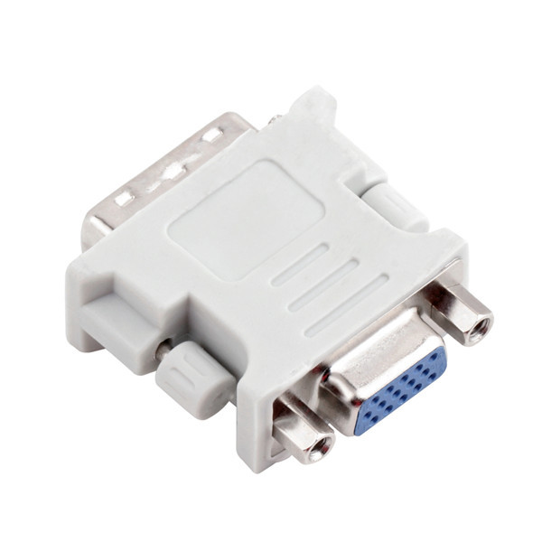 DVI DVI-I Male 24+5 Pin to VGA Female Video LCD Converter Adapter Plug for DVD HDTV Male To Female Adapter White dvi 24 5 male to component video female adapter