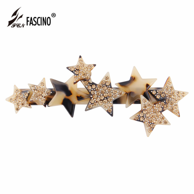 New Fashion Women Girls Crystal Rhinestone Star Hair Clip Beauty Hairpin Barrette