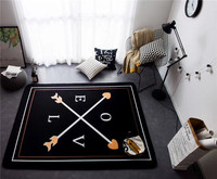 145x195cm Cupid's Arrow Bedroom Carpet Love Letter Rugs and Carpets for Home Living Room