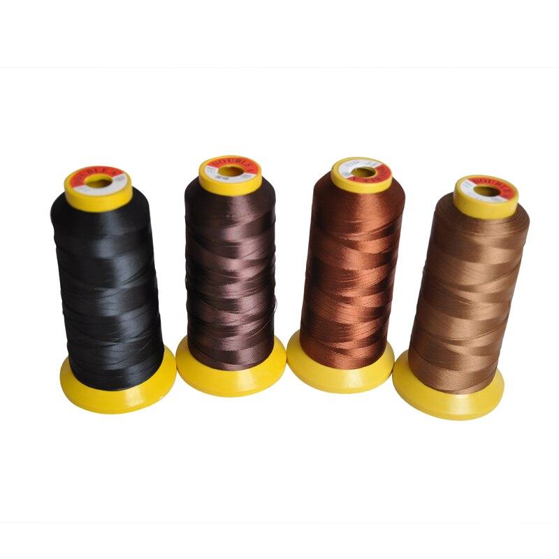 Schwarz/Dunkelbraun/Braun/Lgiht Braun/Beige Gewinde von Haar Weben Hohe Intensität Silk Gewinde Haar verlängerung Werkzeuge Für Spitze Perücke