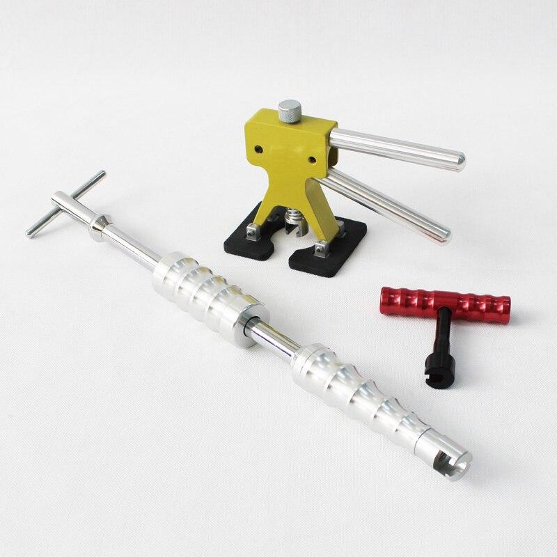 Kit de ferramentas de pdr reparação dent carro extrator martelo deslizante mini levantador t removedor dentes correção reparação reparação super hotbox pops puxando ganchos automóveis conjunto