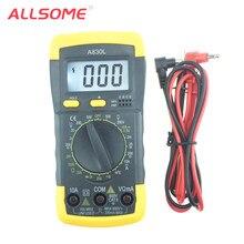 Allalguns novo multímetro digital a830l, multímetro digital para dc ac, voltagem diodo freguência, volt testador ht881 +