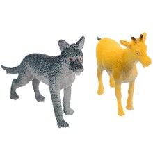12Pcs/set Plastic Wild Farm Yard Animals Model Pig Cow Horse Dog Cat Kids Toys Set Toy Gift все цены