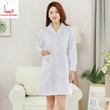 White coats for doctors short sleeves for men and women experimental clothing pharmacy beauty salon division nurses uniform