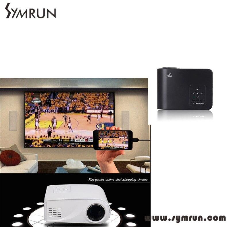 ФОТО Symrun Hot Selling X6 Home Cinema Theater Multimedia Led Lcd Projector Hd 1080P Pc Av projector  full hd