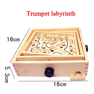 Rotating Wooden Maze Board Game Controller Ball In The Maze Puzzle Handmade Children's Toys Educational Beaded Toys For ChildrenPuzzles & Games