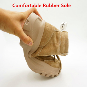 Image 4 - NEWDISCVRY אמיתי עור נשים של חורף מגפי קטיפה חם נשים פלטפורמת סניקרס 2020 אופנה Combat מגפי אישה נעליים