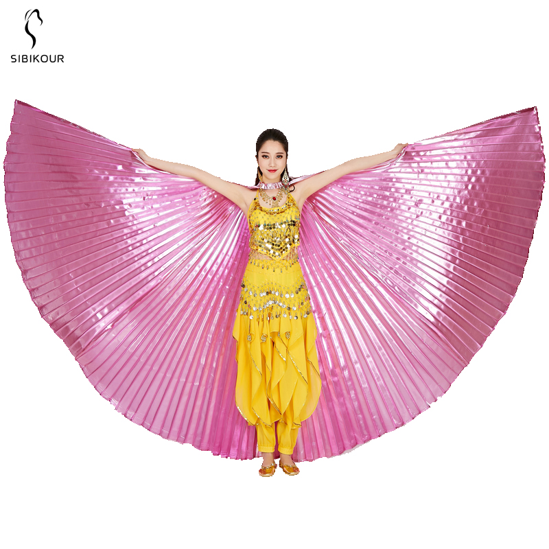 HTB1NfqybRWD3KVjSZKPq6yp7FXah - Belly Dance Isis Wings Belly Dance Accessory Bollywood Oriental Egypt Egyptian Wings Costume With Sticks Adult Women Gold