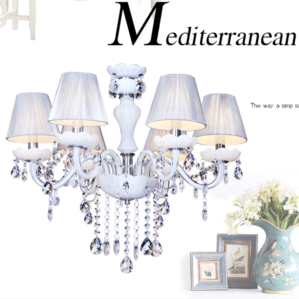 2017 New Fashion Home Lighting Living Room Princess Bedroom 110v-220v Modern Crystal Chandelier White Lighting Crystal Lamp цена