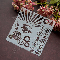Ncraft stencil s43 scapbook stencil cake decorating tool scrapbooking.jpg 250x250
