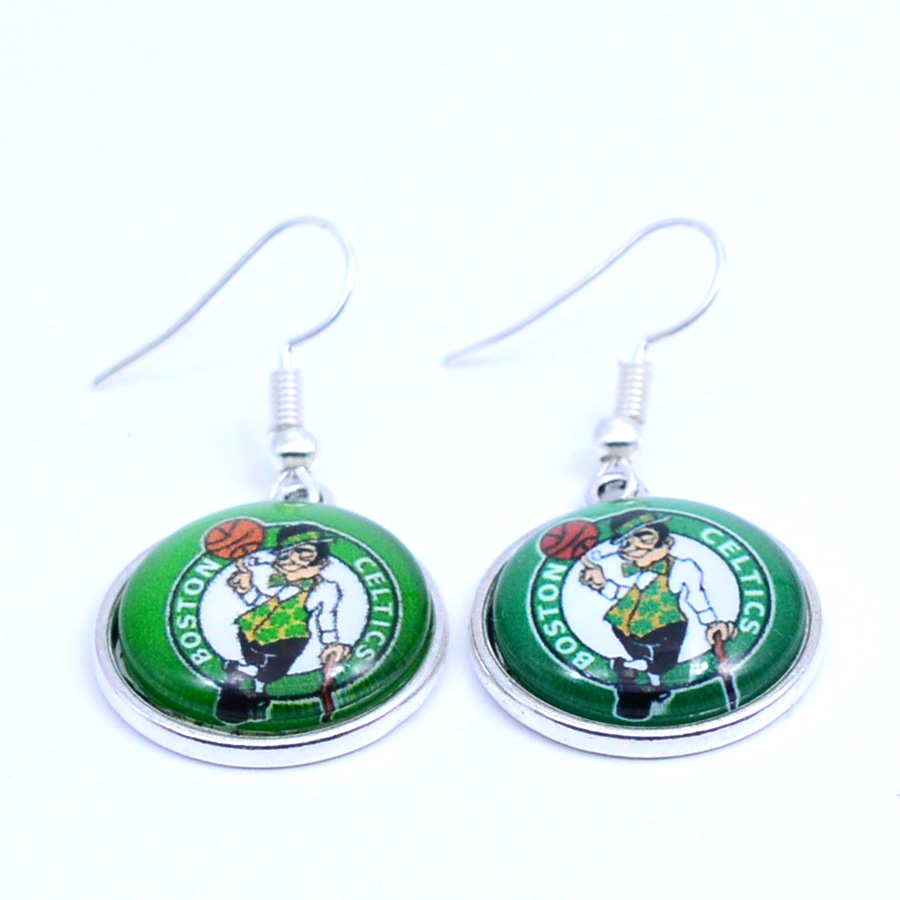 Earrings Boston Celtics Charms Dangle Earrings Sport Earrings Basketball Jewelry for Women Birthday Party Gift 5 pairs